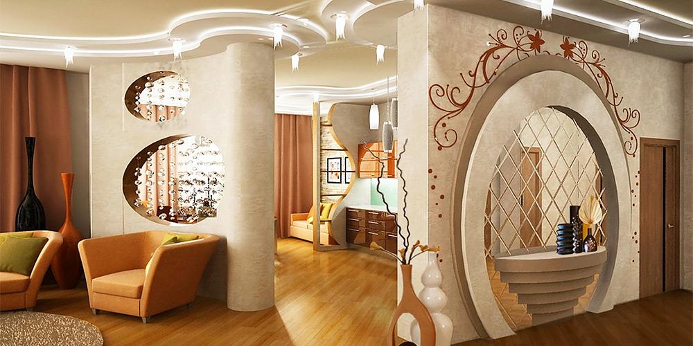 Арка из гипсокартона в квартире дизайн